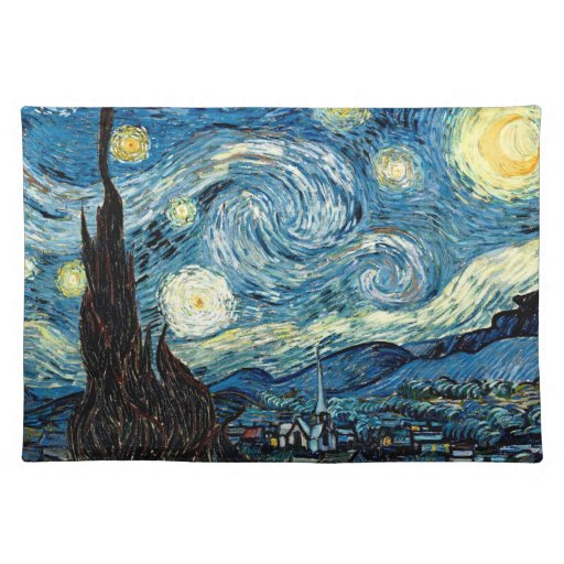 Stary Night by Van Gogh - Place Mat Cloth Place Mat