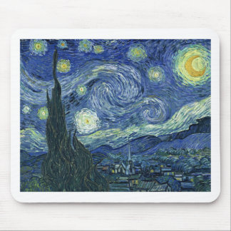 Stary Night by Vincent Van Gogh Mouse Pad
