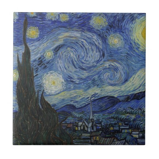 Stary Night by Vincent Van Gogh Tile