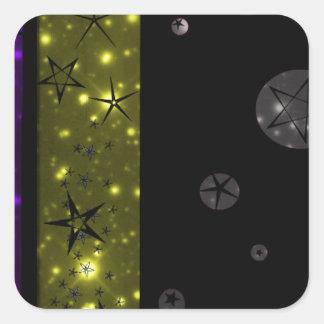Stary Night Sky Pattern Square Sticker