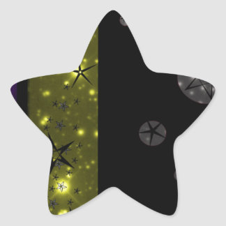 Stary Night Sky Pattern Star Sticker