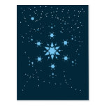 Stary snowflakes postcard