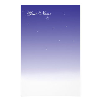 Stary Winter Night Stationary Stationery