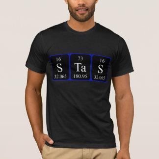 Stas periodic table name shirt
