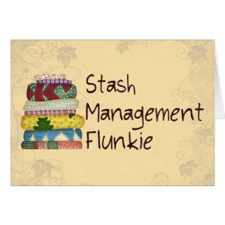 Stash Management Flunkie Card