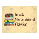 Stash Management Flunkie Postcard