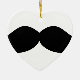 STASH MOUSTASH MOSTASHe mustache or moustache Ceramic Ornament