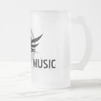Stash Music Beer Muck 16 Oz Frosted Glass Beer Mug