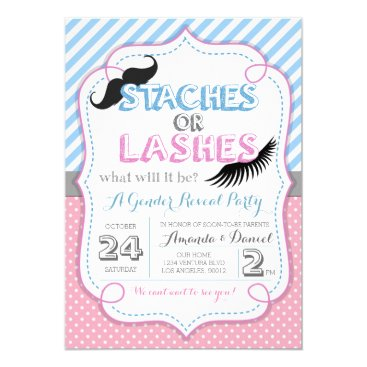 Toddler & Baby themed Stashes or Lashes Gender Reveal Card