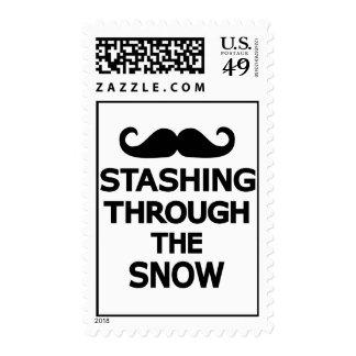 Stashing through the snow stamp