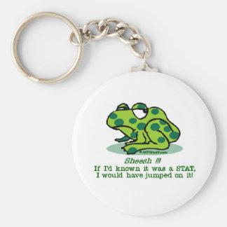 STAT Froggie Basic Round Button Keychain