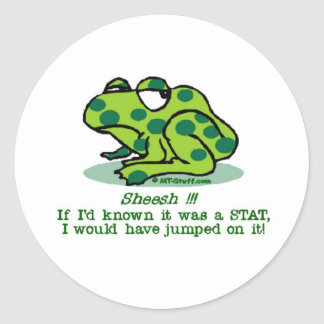 STAT Froggie Classic Round Sticker