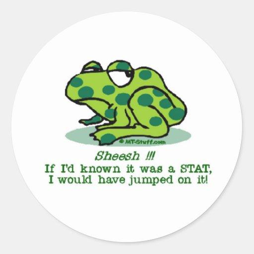 STAT Froggie Round Sticker