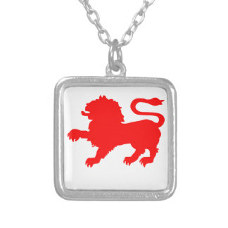 State Badge of Tasmania Silver Plated Necklace