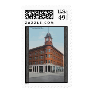 State Bank Building Traverse City, Mich, Vintage Postage