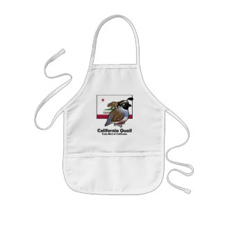 State Birdorable: California Quail Kids' Apron