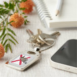 State Birdorable of Alabama: Northern Flicker Silver-Colored Rectangular Metal Keychain