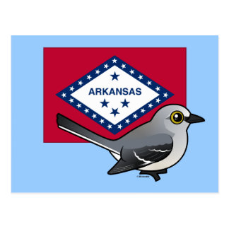 State Birdorable of Arkansas: Northern Mockingbird Postcard