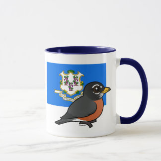 State Birdorable of Connecticut: American Robin Mug