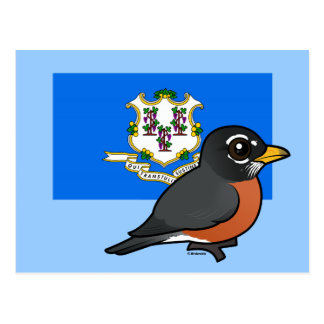 State Birdorable of Connecticut: American Robin Postcard
