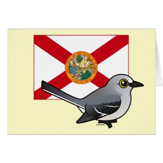 State Birdorable of Florida; Northern Mockingbird Card