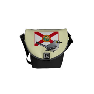 State Birdorable of Florida Northern Mockingbird Courier Bags