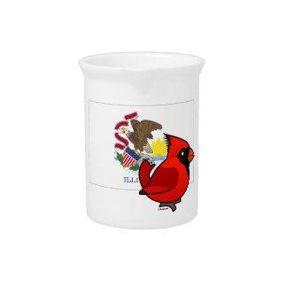 State Birdorable of Illinois: Northern Cardinal Beverage Pitcher