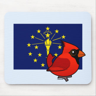State Birdorable of Indiana: Northern Cardinal Mouse Pad