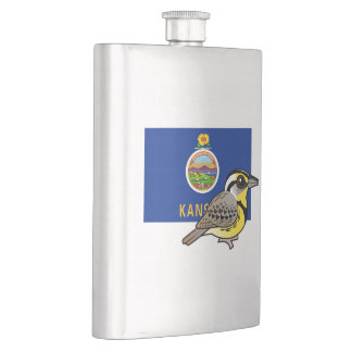 State Birdorable of Kansas: Western Meadowlark Flask