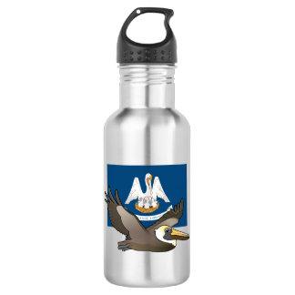 State Birdorable of Louisiana: Brown Pelican Water Bottle