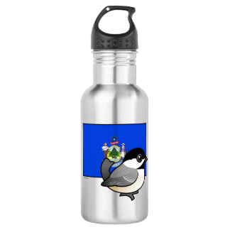 State Birdorable of Maine: Black-capped Chickadee Stainless Steel Water Bottle