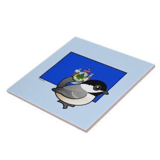 State Birdorable of Maine: Black-capped Chickadee Tile