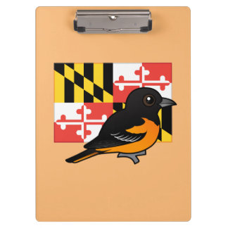 State Birdorable of Maryland: Baltimore Oriole Clipboard