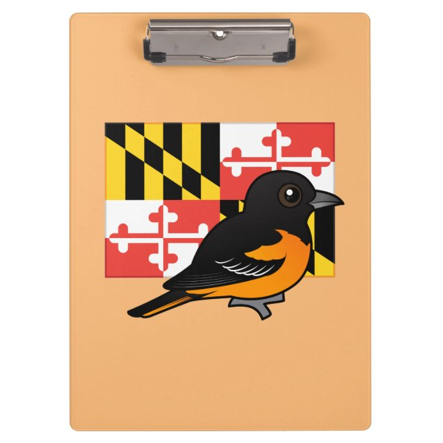state birdorable of maryland baltimore oriole clipboard