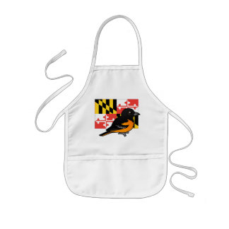 State Birdorable of Maryland: Baltimore Oriole Kids' Apron
