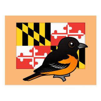 State Birdorable of Maryland: Baltimore Oriole Postcard