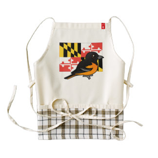 State Birdorable of Maryland: Baltimore Oriole Zazzle HEART Apron