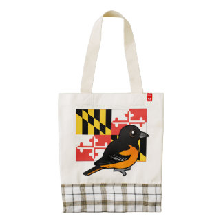 State Birdorable of Maryland: Baltimore Oriole Zazzle HEART Tote Bag