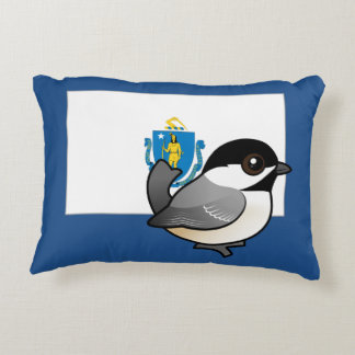 State Birdorable of Mass: Black-capped Chickadee Accent Pillow