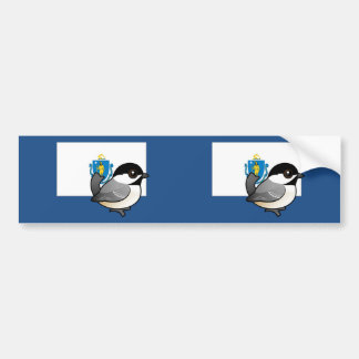 State Birdorable of Mass: Black-capped Chickadee Bumper Sticker