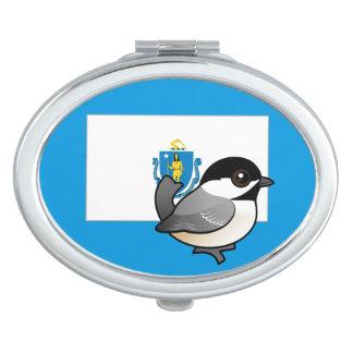 State Birdorable of Mass: Black-capped Chickadee Compact Mirror