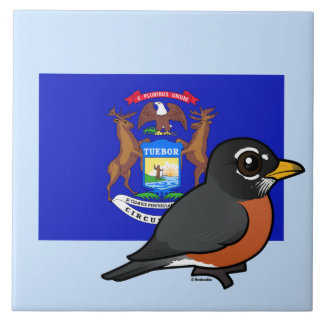 State Birdorable of Michigan: American Robin Tile