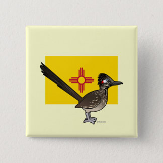 State Birdorable of New Mexico: Roadrunner Pinback Button