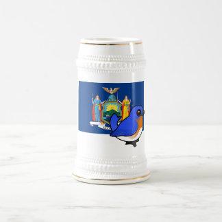 State Birdorable of New York: Eastern Bluebird Beer Stein