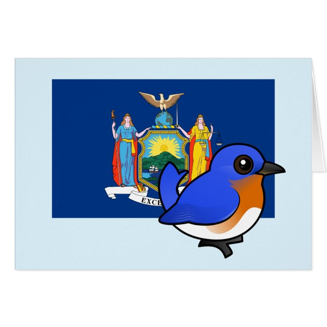 State birdorable of new york eastern bluebird greeting card greeting card the official state bird of the state of new york is the eastern bluebird this was first declared in 1970 the eastern bluebird is found all m4hsunfo