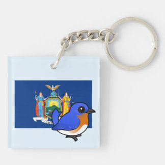State Birdorable of New York: Eastern Bluebird Keychain
