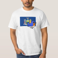 State Birdorable of New York: Eastern Bluebird Men's Crew Value T-Shirt