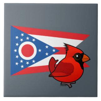 State Birdorable of Ohio Ceramic Tile