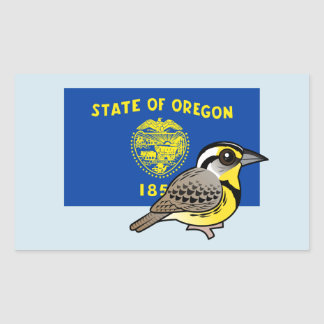 State Birdorable of Oregon: Western Meadowlark Rectangular Sticker