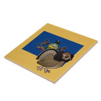 State Birdorable of Pennsylvania: Ruffed Grouse Ceramic Tile
